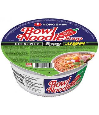 nongshim Bowl Noodle soup hot & spicy  86gr