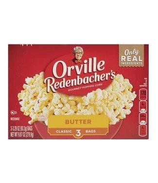 orville redenbacher's butter 3-3.29 oz(93.3g) Bags (9.87oz / 279.9gr)