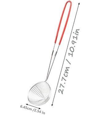 Fondue Zeef Roestvrij Staal 7cm met rode handvat