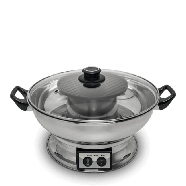 Remo Electric Fondue Pan 3.8ltr Ø30cm with grill plate