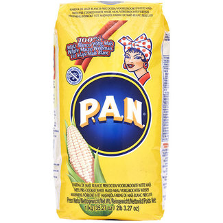 P.A.N. PAN Precooked White Corn Flour 1kg - Yellow packaging