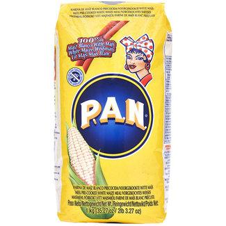 P.A.N. PAN Voorgekookt Witte Mais meel 1kg - Gele verpakking