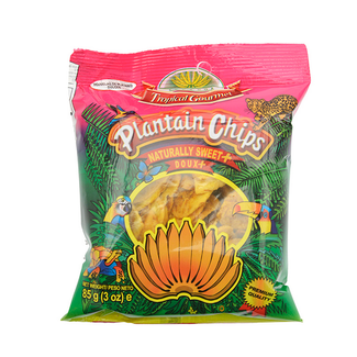 Tropical Gourmet Plantain Chips naturally sweet + 85g pink
