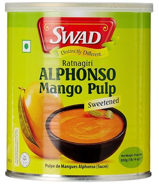 swad alphonso mango pulp 850gr