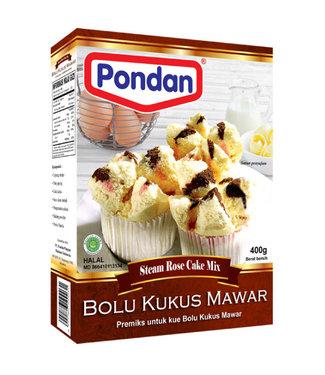 Pondan Pondan Bolu Kukus Mawar, gestoomde roos cake, 400g