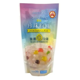 Tapioca Pearl Colour Sugar Flavor WuFuYuan 250g THT 20-11-2021