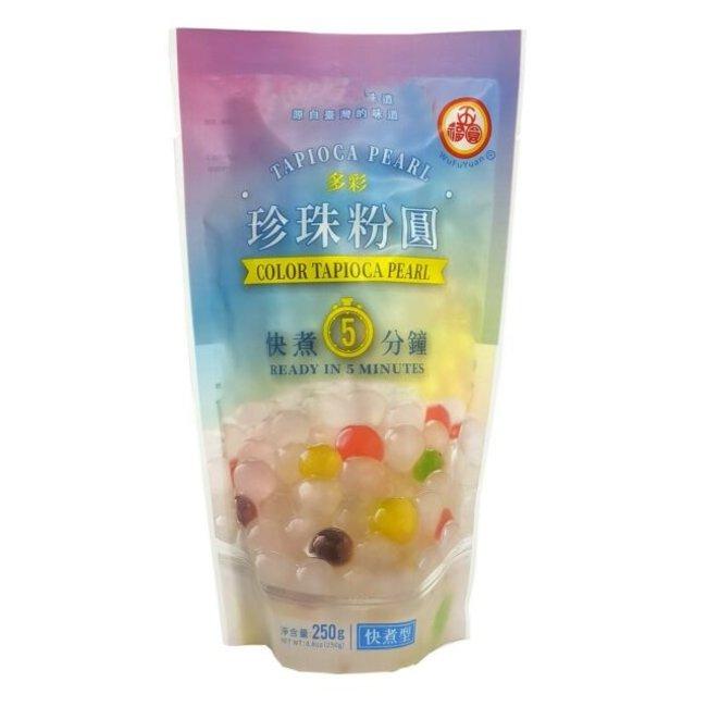 Tapioca Pearl Color Sugar Flavor WuFuYuan 250g Best before 20-11-2021