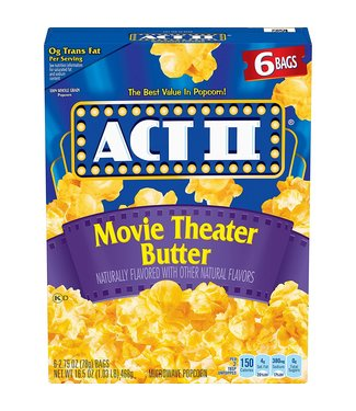 act II Movie Theater Butter 3-2.75 oz bags (Net 234g)