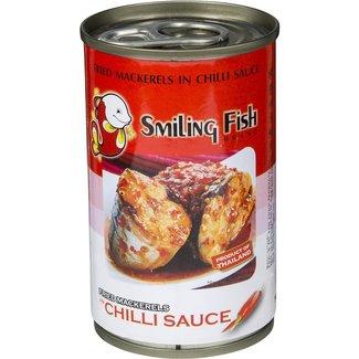 fried mackerels in chilli sauce 155g Smiling Fish