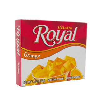 royal orange gelatin 1.41oz - 40g