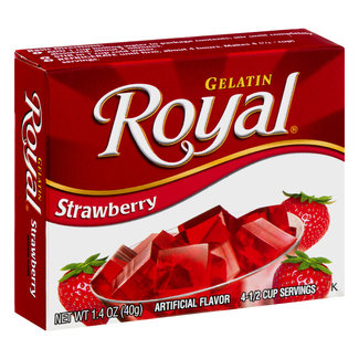 royal strawberry gelatin 1.41oz - 40g