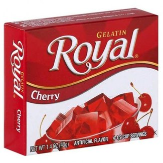 royal cherry gelatin 1.41oz - 40g
