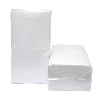 Napkins 30 x 33 cm, 1-ply, white - 340 pcs