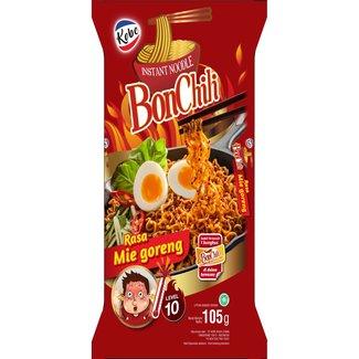 kobe mee goreng spicy level 10 - 105g BonChili Noodle - red