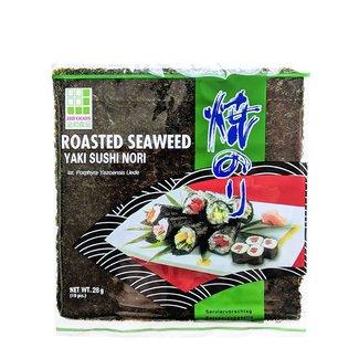 roasted seaweed yaki sushi nori 10 pieces (28gr) jhfoods