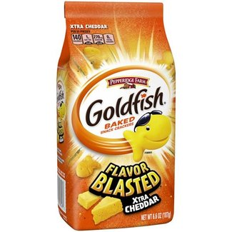 Pepperidge Farm goldfish flavor blasted xtra cheddar 6.6 oz  - 187g