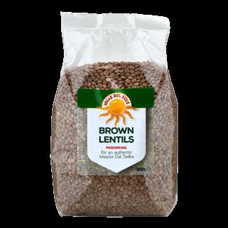 Brown Lentils - Masoor Dal 900g Valle Del Sole