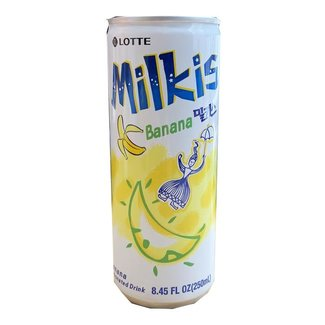 milkis banana soda drink 250ml lotte