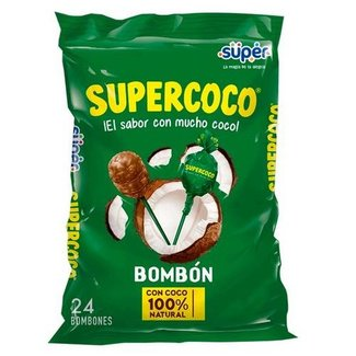 Bombom Supercoco Bolsa Lolly 24 stuks - 360g
