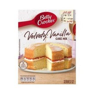 velvety vanilla cake mix 425g betty crocker