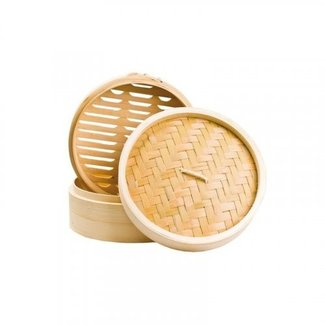 Bamboo steamer 2 laags + 1 deksel  ⌀ 15 cm - NO. 330539