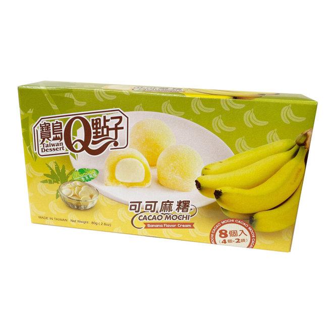 Cocoa Mochi Banana Flavor 8 pcs - 80g Q