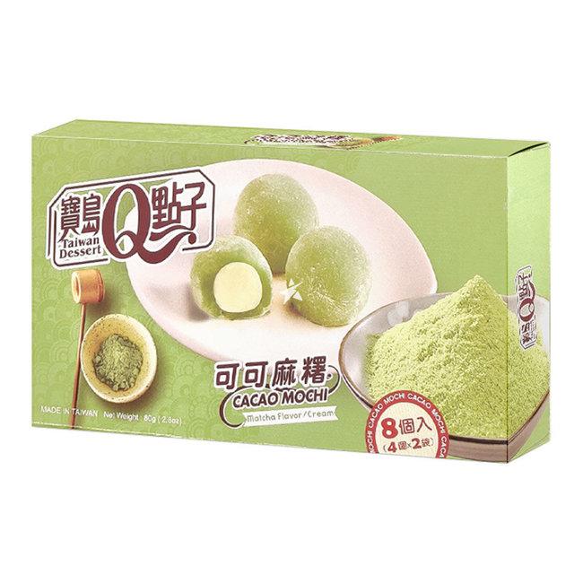 cocoa mochi matcha flavor cream 8 pieces - 80g Q