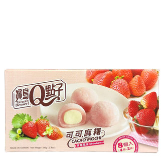 cacao mochi strawberry flavor cream 8 stuks - 80g Q