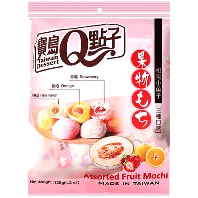 Assorted Fruit Mochi 120g Q