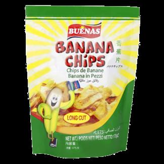 banana chips 175g buenas