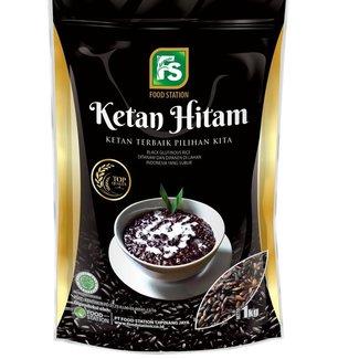 ketan hitam - black glutinous rice 1 kg food station