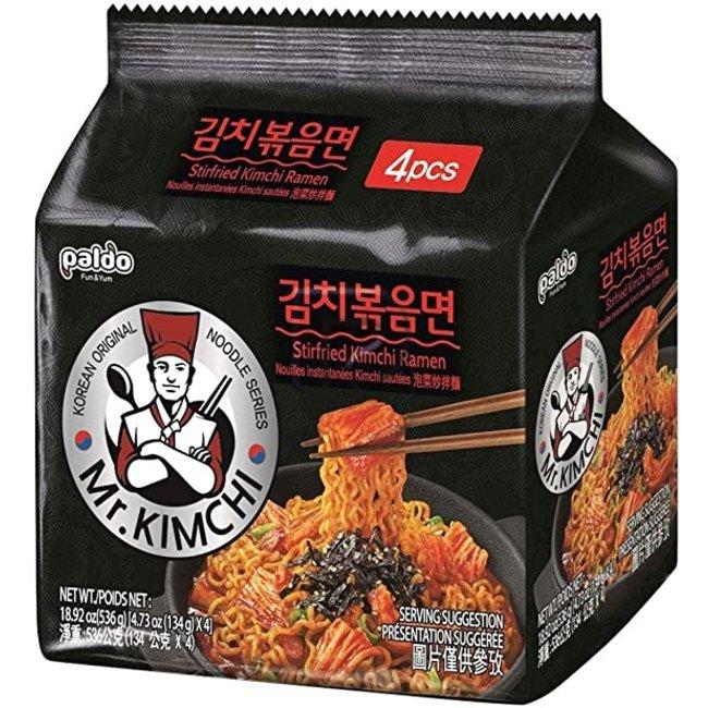 mr. Kimchi stirfried ramen 4 pack x 134g (536g)