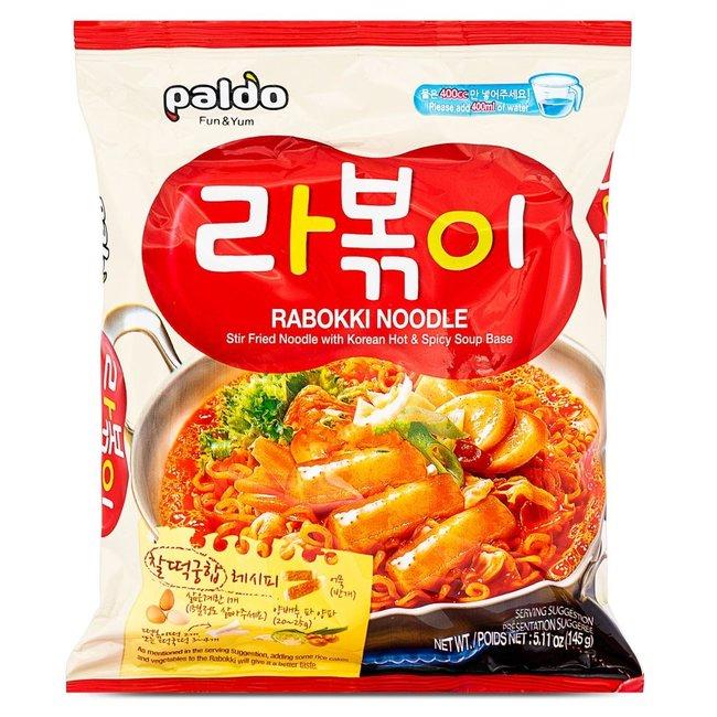 rabokki noodle paldo 4 pack x 145g (580g)