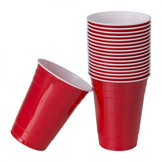 party cup red 25 pieces -16oz - 473ml