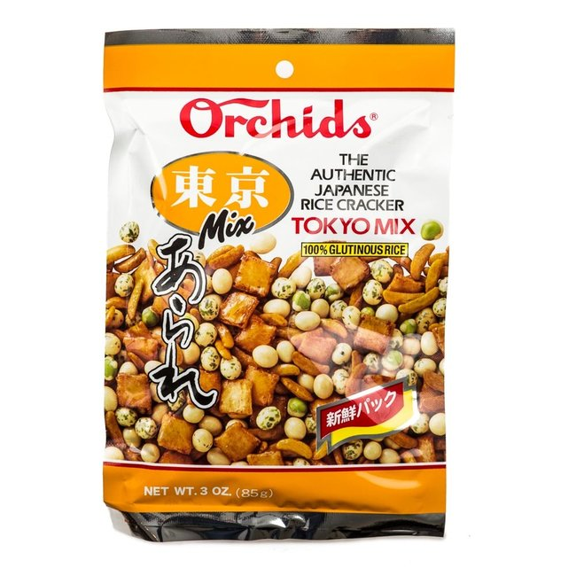 Tokyo mix Japanese Rice Crackers 85g Orchids