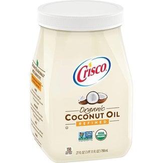 crisco coconut oil organic refined 27 fl oz - 798ml