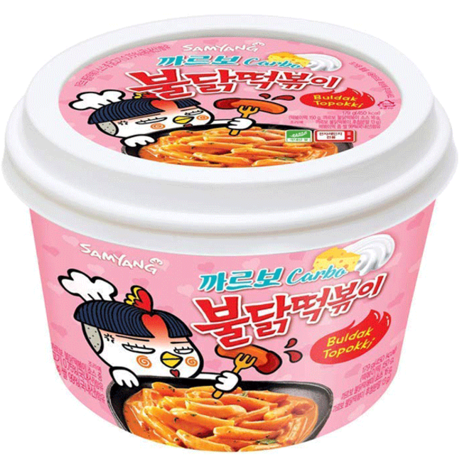 samyang Topokki Cup Hot Chicken Carbo 185g Pink