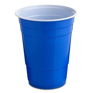 Blue party cups Bekers 500ml per 10 st - Nupik