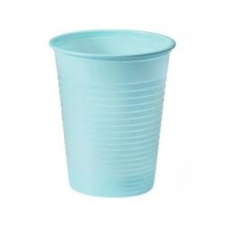 blauw plastic drink bekers 185ml - 50 st
