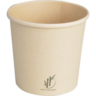 DEPA Soup bowl, Bamboo paper PE, 750ml, 26oz, natural, per 25 pieces