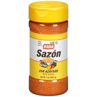 badia sazon with saffron 7oz - 198.4g - gele dop