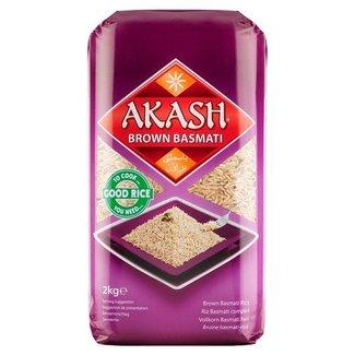Akash Akash Bruin Basmati rijst 2KG