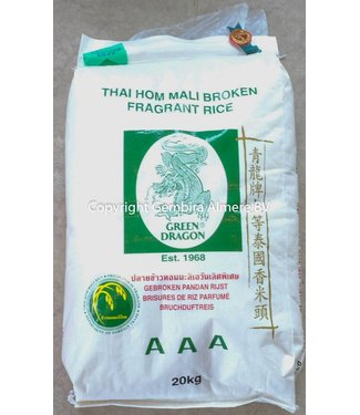 Green Dragon Thai Hom Mali Broken Fragrant rice 20 kg
