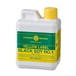 Flower Brand Yellow label black soy 500 ml