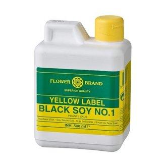 Flower Brand Yellow label black soy sauce 500 ml