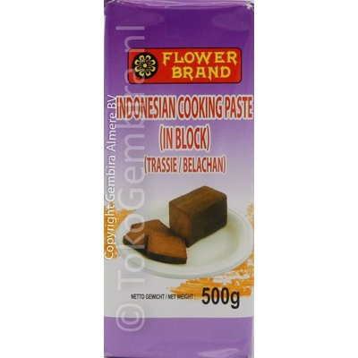Flower Brand Indonesian Cooking Paste in block(Trassie) 500g