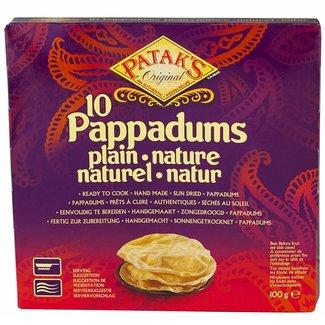 Patak's Pappadums Natural 10 pcs. - 100g
