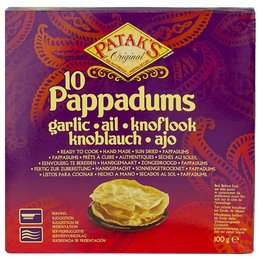 Patak's Pappadum Knoflook