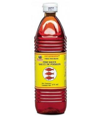 Pantai norasingh three fish brand fish sauce 670 ml