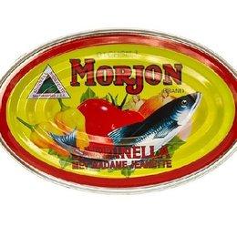 Morjon Sardinella in tomato sauce with union and Madame Jeanette